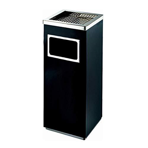 ZLFLD Abfallbehälter Aluminium-Legierung, Mülltonne, Papierkorb (Color : Metallic, Size : 24 * 24 * 62CM)
