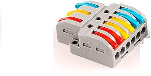 Bloques de conector eléctrico, abrazadera de alambre, bloque de terminales, conector de empalme, conector de terminales de alambre Conectores de cable rápido y universal Enchufe, distribuidor eléctric