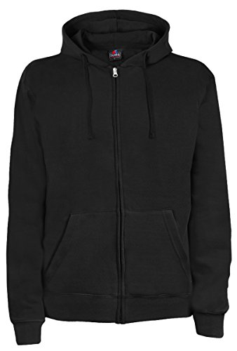 SUMG Apparel Unisex Kapuzenjacke Kapuzen Sweat-Jacke 'Basic Hooded Zipper' (L, schwarz)