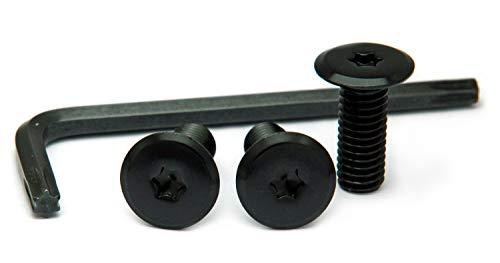 ナンバープレート用ボルト フラットタイプ アルミ(ブラック) 3本&工具セット M6×16