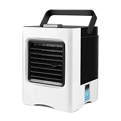 HFFSGS Refrigerador de aire portátil, Mini aire acondicionado, refrigeradores evaporativos, humidificador, purificador LED, ventilador de refrigeración de escritorio, unidad de aire acondicionado para