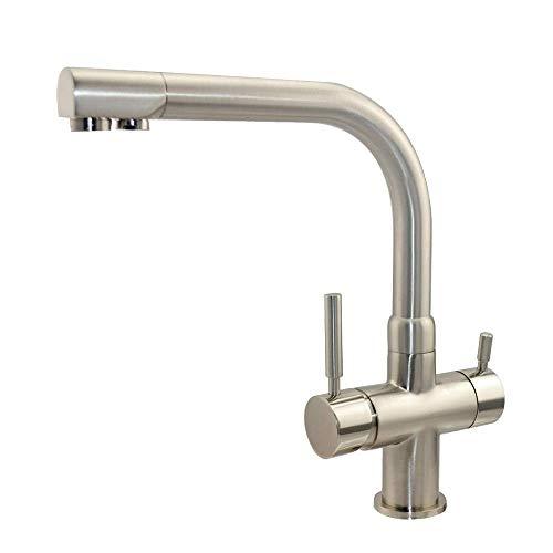 Drei Wege Wasserhahn - Gefiltertes Wasser und Leitungswasser aus nur einem Hahn - Modell: Aqua Top - Matt - 3 Wege Armatur