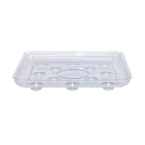 CWP SQDS-1200 Heavy Gauge Footed Square Carpet Saver Saucer, 12-Inch by 12-Inch, Clear