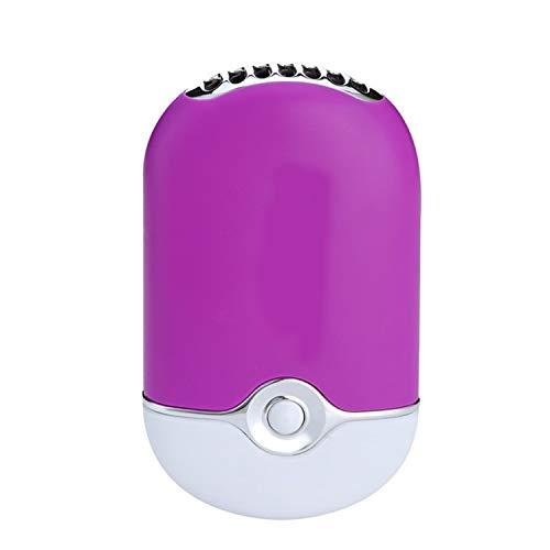 MINGMIN-DZ Handventilator Mini tragbare Handventilator Befeuchtung Kühler Lüfter Wimperntrockner Nageltrockner USB-Luftgebläse Kühlung (Color : Purple)