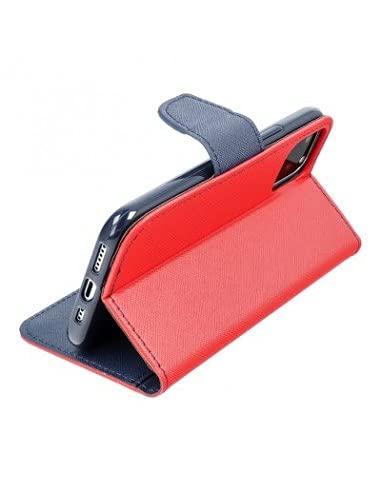 Capa Livro Horizontal Lmobile Redmi 9T 5G - Vermelho/Azul