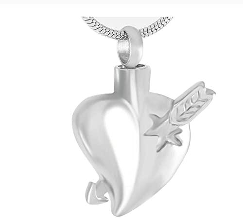 Lcgbw Colgantespara Cenizas Collar Colgante De Corazón para Mujeres Hombres Colgante De La Cremación Collar para Conmemoraciones Cenizas Joyas Recuerdos