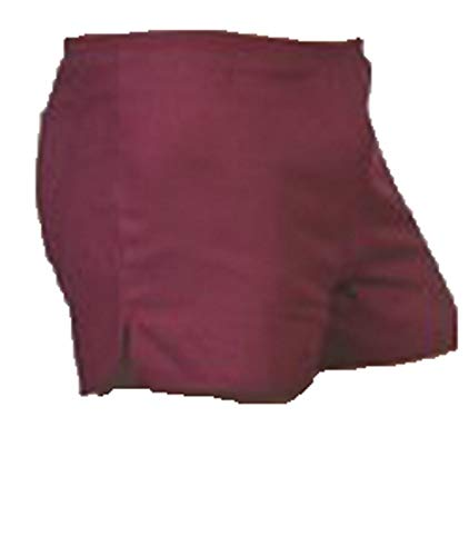 Turnhose DDR Style mit Innenslip, Sporthose, Nostalgie Shorts, Bordeaux, Kurze Hose, SW630, (7)