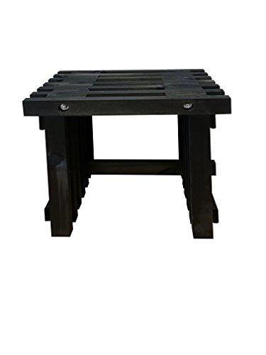 Koll Living Sitzhocker aus Holzlatten, 50x32x45 cm - Rustikale Holzoptik - als praktischer Helfer für Garten, Terrasse oder den Innenbereich