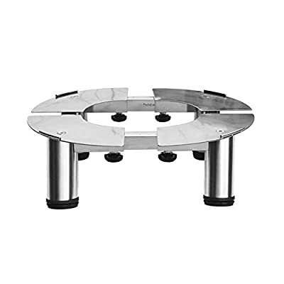 Washing Machine Adjustable Trolley Staineless Steel Roller Trolley Air-Condition Base Silver Washing Machine Floor Trays (Size : High 23-25cm)