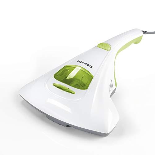 CLEANmaxx Milben-Handstaubsauger | Matratzenreiniger mit starker Saugkraft, sterilisiert Oberflächen mit UV-C Licht | Vernichtet bis zu 99,9% Aller Milben [300W]