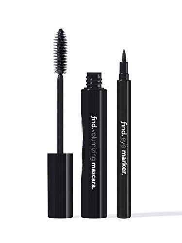 FIND - Midnight Black - Volumen-Mascara (schwarz) + Eyeliner-Marker (schwarz)