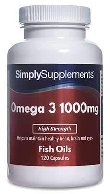 Omega 3 1000mg | Pharmaceutical Grade | 120 Capsules | Providing EPA & DHA | High Quality Fish Oils | Manufactured in The UK