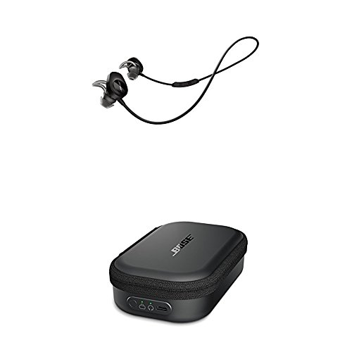 Bose SoundSport Bluetooth Wireless In-Ear Headphones with Charging Case - Black