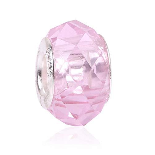 Granos coloridos de facetas de cristal grandes encajan los encantos de la pulsera de Pandora Mujeres europeas de la moda DIYJewelry Accesorios Envío gratis, 18