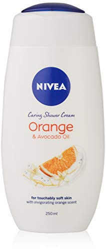 NIVEA Indulgent Moisture Orange Shower Cream, Pack of 6 (6 x 250 ml), Moisturising Shower Gel with Avocado Oil Luxurious Body Wash for Women, Body Wash