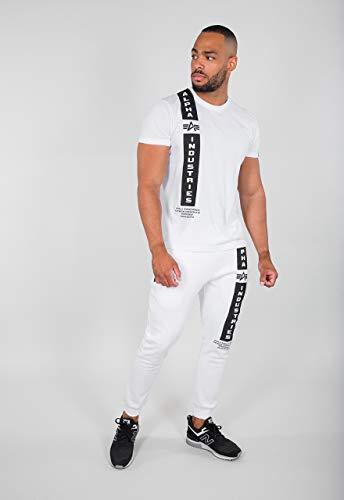 ALPHA INDUSTRIES Herren Defense T T-Shirt, White, XL