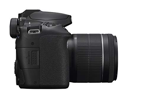 Canon EOS 90D Spiegelreflexkamera Gehäuse - mit Objektiv EF-S 18-55mm F3.5-5.6 is STM (32,5 MP, 7,7 cm (3 Zoll)), schwarz & SanDisk Extreme Pro SDXC UHS-I Speicherkarte 128GB (V30, 70 MB/s)