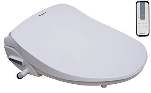 BrookPad SplashLet 2100RB Intelligent toiletbril met afstandsbediening | Elektronische, zelfreinigende sproeier van roestvrij staal | Nachtlampje | Turbo | Föhn | actieve geurafzuiging