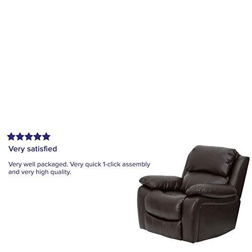 Flash Furniture Brown Leather Rocker Recliner