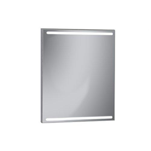 Kristaled Nanga LED 60 x 80 cm badkamerspiegel met licht, glas, zilverkleurig, 60 x 80 x 2,5 cm