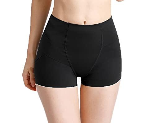 High Waist Women Shorts Fitness Leggings Tummy Control Compression Solid Running Dance Hip Lift Short Pants Premium (Black, Small)