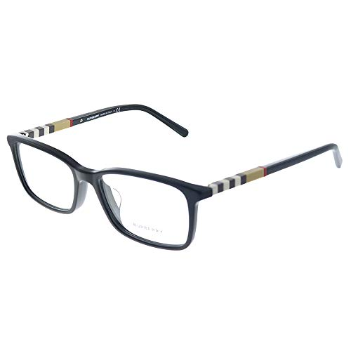Burberry Alternate Fit BE 2199F 3001 Black Plastic Rectangle Eyeglasses 55mm