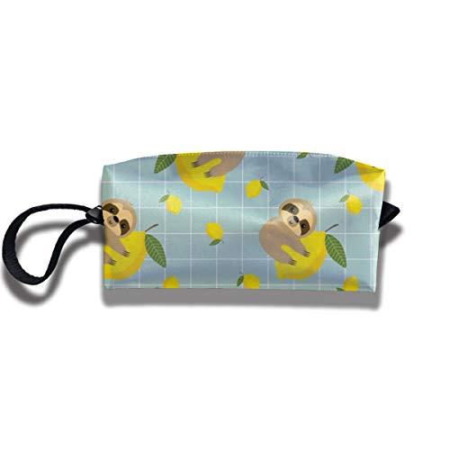 Bbhappiness Pouch Handbag Cosmetics Bag Case Purse Travel & Home Portable Make-up Receive Bag Sloth Lemon
