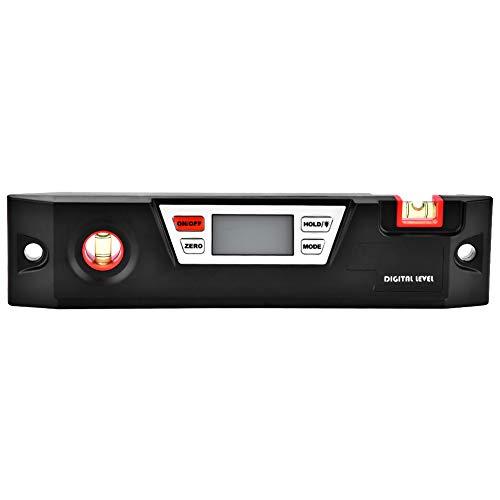 Nivel digital, indicador de ángulo digital Medidor de caja de bisel Protractor Inclinómetro Nivel de burbuja Herramienta Regla Indicador de ángulo Nivel de buscador