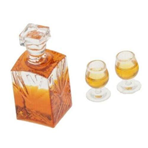 1:12 a Escala Miniatura De Whisky Botellas Dollhouse Modelo De Alimentos Comestibles Hada De La Cocina Decoraciones del Jardín con Tazas Pub Bar Modelo Juguetes 1pc