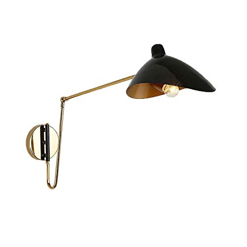 Industrielles Eisen,das lange Armwandlampe,moderne Entenschnabel Serge Mouille-Wandlampe faltet,für Familienrestaurant-Nachtbeleuchtung-Schwarzes