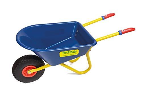First Tools (Tolo) Schubkarre / Kinderschubkarre (Länge: 110 cm / Höhe: 41 cm / Gewicht: 4,3 kg / Farbe: blau) 3+