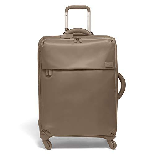 Lipault - Original Plume Spinner 65/24 Luggage - Medium Suitcase Rolling Bag for Women - Dark Taupe
