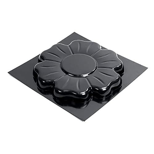 LLKK Molde de pavimento DIY cemento, molde de pavimentación de pavimentos de baldosas de suelo Molde de ladrillo de cemento 40,5 x 40,5 cm negro para jardín patio balcón pavimentación