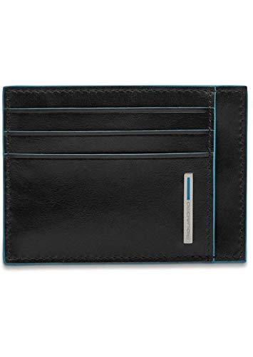 Piquadro Blue Square Porta Carte di Credito con 6 Alloggiamenti per Carte di Credito, 11 cm, 0.27 litri, Nero