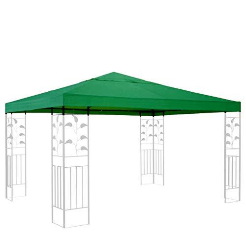 QUICK STAR Ersatzdach für Rank Pavillon 3x3m Grün Ersatzbezug Pavillondach