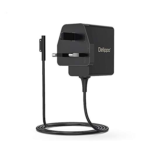 Delippo for Microsoft Surface Charger 44W 15V 2.58A for Microsoft Surface Pro 3, Pro 4, Pro 5, Pro 6, Pro 7 Surface Laptop 1/2, Surface Book & Surface Go Travel Wall Charger Power Adapter