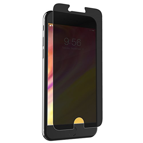 ZAGG InvisibleShield Glass+ Privacy Screen Protector for Apple iPhone 7 Plus, iPhone 6s Plus, iPhone 6 Plus – 3X Impact Protection, Transparent (I7LGPC-F00)