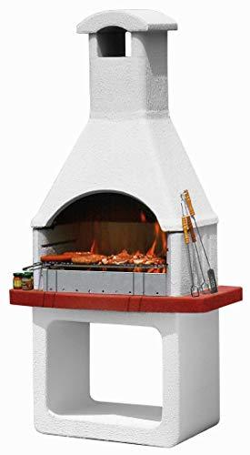 Barbecue in Cemento a Carbonella Monterey 98x62,5x204 cm Mcz