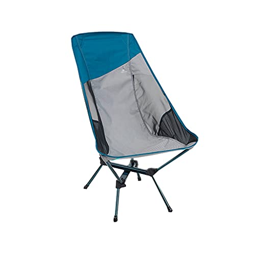High Rücken tragbarer Campingstuhl - kompakte ultraleiche faltende Rucksackstühle, kleiner zusammenklappbarer faltbarer verpackbarer leichter Rucksackstuhl in einer Tasche für den Außenbereich, Lager,