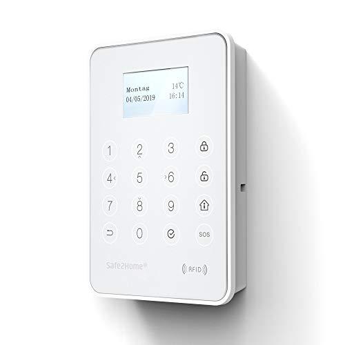 Safe2Home® externes Tastenfeld Außen SP310 + Innen für Funk Alarmanlage Serie SP310 - Bedienteil mit RFID Reader - Tastatur für Alarmanlage SP310