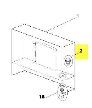 ENSEMBLE PISTON RESERVOIR POUR PETIT ELECTROMENAGER CLIMADIFF - 11020033
