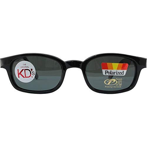 KD - Occhiali da sole originali KDs Biker, lenti colorate scure,montatura nera opaca