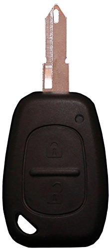 Liamgate Ersatz Schlüsselgehäuse-mit-Rohling geeignet für Renault-Schlüssel-mit-2-Tasten