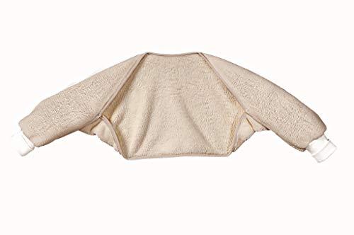 Odenwälder Ärmelinchen | Schlafsackärmel Babyschlafsack | Schlafsack Ärmel für Babyschlafsäcke | Oberstoff 100% Baumwolle, Größe:90, Design:taupe