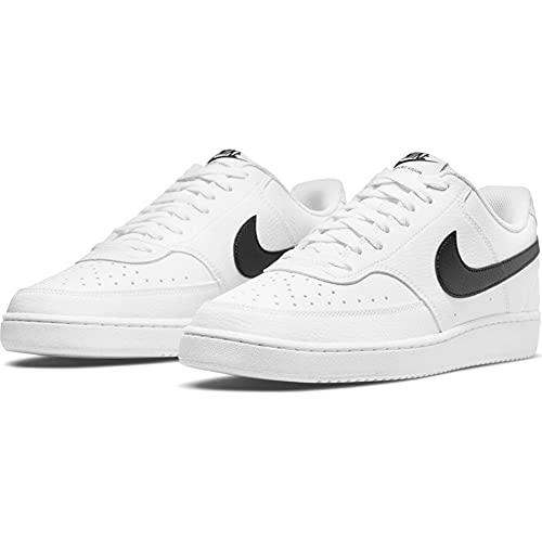 Nike Court Vision Low Better, Scarpe da Basket Uomo, White/Black-White, 39 EU