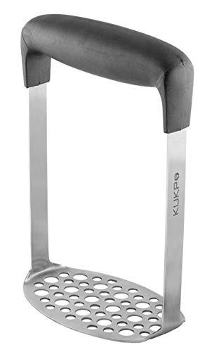 KUKPO Stainless Steel Potato Masher with Broad and Ergonomic Horizontal Handle –...