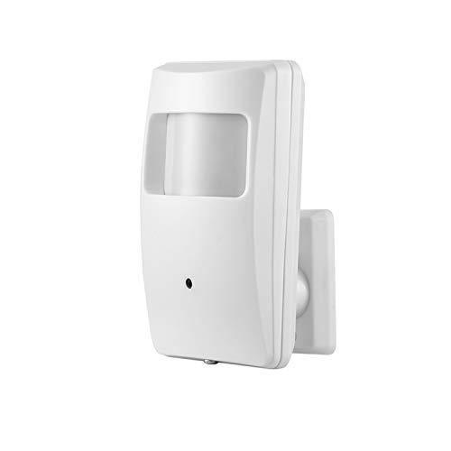 PIR IP Kamera Mini Innenbereich Überwachungskamera, Revotech® H.265 HD 3MP 1080P Cam Pinhole 940nm Unsichtbare Nachtsicht IR ONVIF Bewegungserkennung P2P CCTV Nocken (IPIR-M, Weiß)