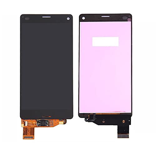 ONM Sony Xperia Z3 Compact 修理用 フロントパネル (フロントガラスデジタイザ) 交換部品 D5803 D5833 SO-02G LCD 液晶 パネルセット 互換品 (ホワィト)