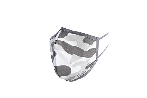 YBUYOO Nano FFP2 R D Maske military / Camouflage | Premium FFP2 Maske mit spezial Nano Einlage | bis zu 20 x waschbar - wiederverwendbar | CE + ISO zertifiziert | extra atmungsaktiv aus Baumwolle