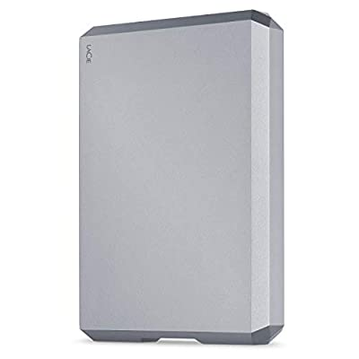 LaCie Mobile Drive 4TB External Hard Drive Portable HDD – Space Gray USB-C USB 3.0, for Mac and PC Desktop, 1 Month Adobe CC (STHG4000402)